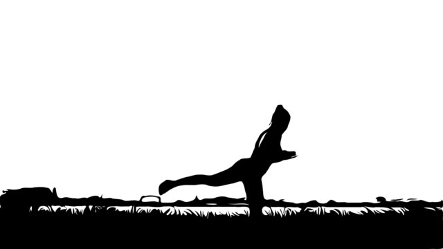 animation cartoon ,woman workout yoga and pilates - deltoid stock videos & royalty-free footage