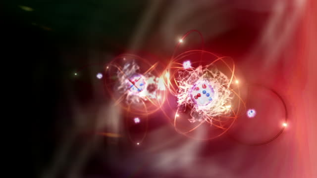 animation chemical reaction between atoms - quantum physics stock videos & royalty-free footage