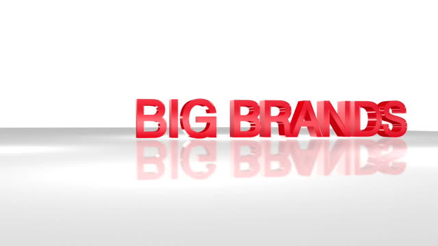 big brands 3d animation concept. - classified ad stock videos & royalty-free footage