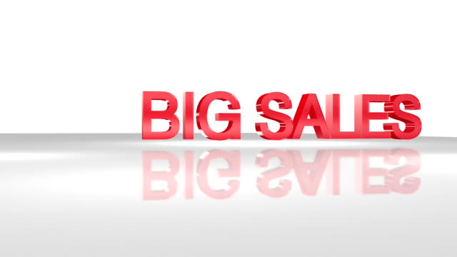 big sale 3d animation concept. - classified ad stock videos & royalty-free footage