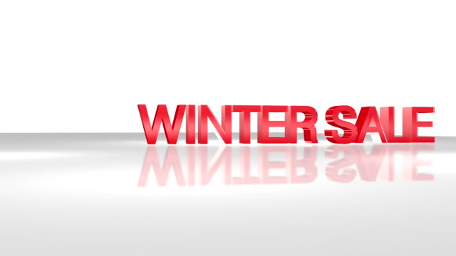 winter sale 3d animation concept. - classified ad stock videos & royalty-free footage