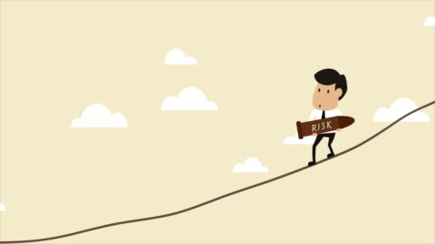 vidéos et rushes de concept d'animation vidéo de la gestion des risques - risque