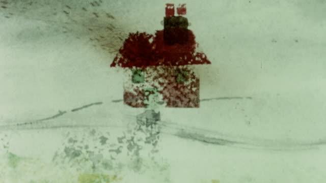 vídeos y material grabado en eventos de stock de 1967 montage animation demonstrating how slurry piping may be a nuisance and unhealthy in windy weather / united kingdom - malos olores