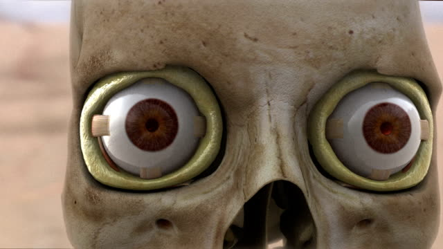a 3-d animation depicts human eyes and sockets. - biomedical animation stock videos & royalty-free footage