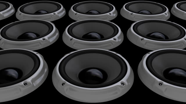animation gray speaker floor (hd, loop/cycle, alpha) - shaking stock videos & royalty-free footage