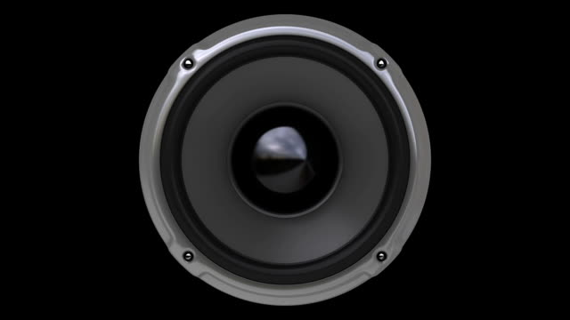 animation gray speaker (hd, loop/cycle, alpha) - shaking stock videos & royalty-free footage