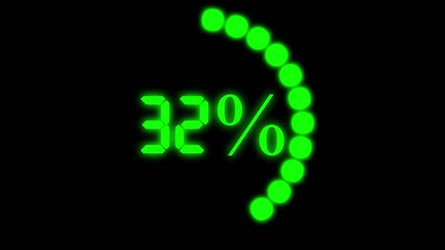 animation loading bar 100 percent loading. - völlig lichtdurchlässig stock-videos und b-roll-filmmaterial