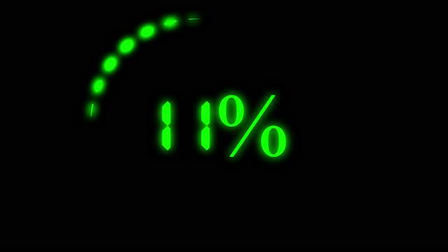 animation loading bar 100 percent loading. - 交代点の映像素材/bロール