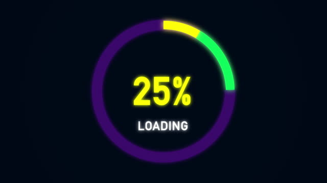 animation loading circle ring bar - bar graph stock videos and b-roll footage