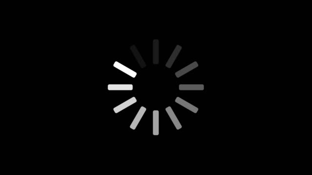 4k animation - loading white circle icon on black background. circle on center place for your logo and text. motion graphic and animation background loopable. alpha channel. - loading stock videos & royalty-free footage
