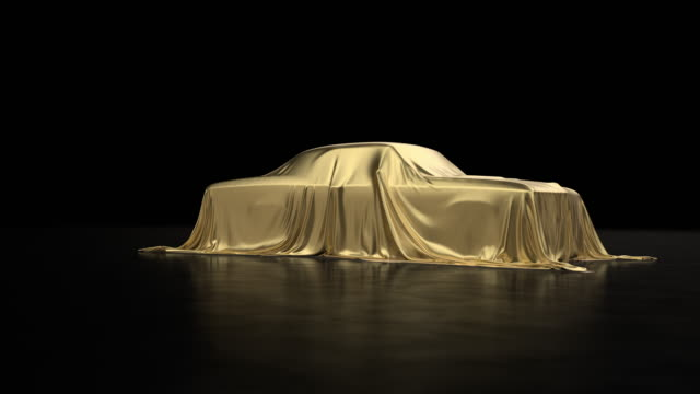3d animation of a luxury car a covered with a gold cloth - 1967 stock videos & royalty-free footage