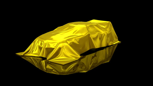 3d animation of a luxury car under a sheet - tradeshow stock videos & royalty-free footage