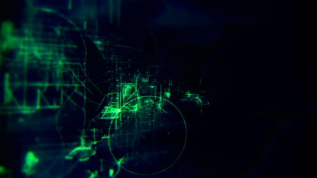 抽象回路基板ストックビデオの4kアニメーション - 内部点の映像素材/bロール