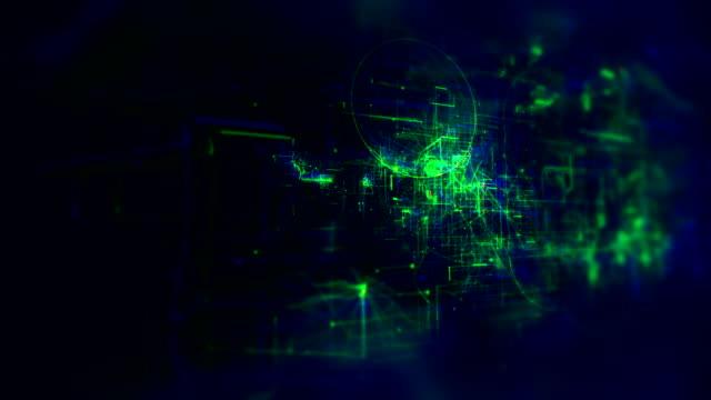 vidéos et rushes de 4k animation of abstract circuit board stock vidéo - synthpop