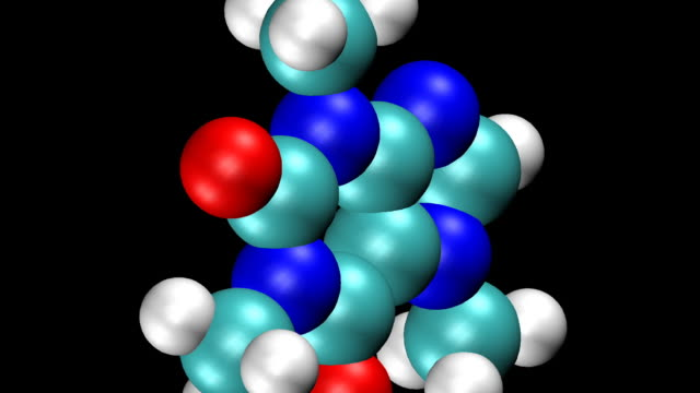 Animation of Caffeine molecule