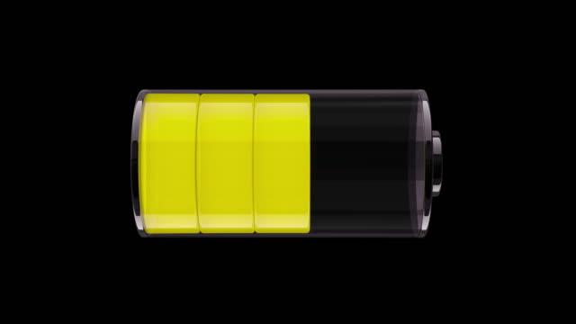 vidéos et rushes de animation 3d ms de la batterie de charge - batterie