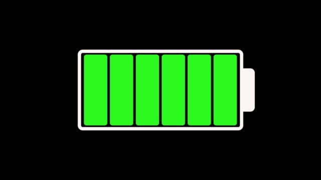vídeos de stock, filmes e b-roll de animação ms 2d de carregar a bateria - gráficos de movimento
