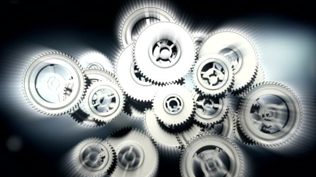 animation of cogs working together - cartoon p stock videos & royalty-free footage