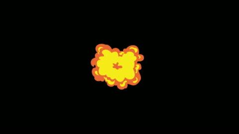 animation av komiska fx explosion slinga. - serier bildbanksvideor och videomaterial från bakom kulisserna