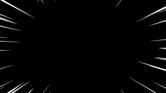 animation of comic speed lines background texture pattern effect in cartoon concept, alpha channel, black background loopable stock video - line stock videos & royalty-free footage