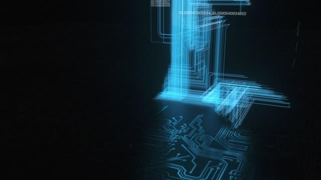3D animation of Complex Hi-Tech network lines