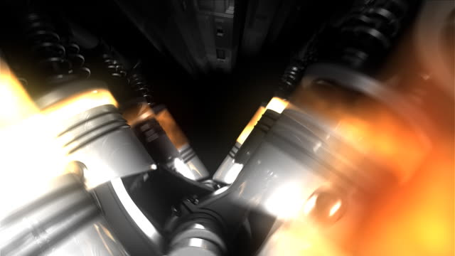 animation of engine and gearbox inside. - motor bildbanksvideor och videomaterial från bakom kulisserna