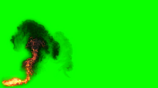animation of fire burning - cartoon fire - green box - infinite loop - fire natural phenomenon stock videos & royalty-free footage