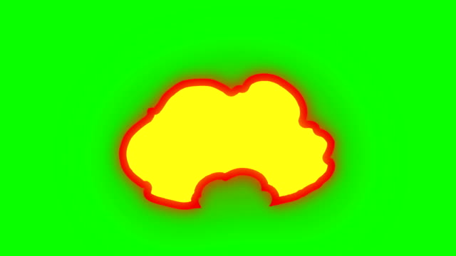animation of fire burning - cartoon fire - green box - infinite loop - drawing activity stock videos & royalty-free footage