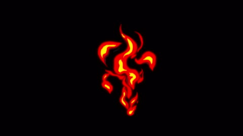 animation of fire burning - cartoon fire - overlay alpha channel - infinite loop - image effect stock videos & royalty-free footage
