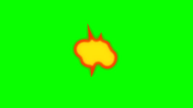 animation of fire burning - cartoon fire - overlay alpha channel - infinite loop - bangs stock videos and b-roll footage