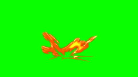 animering av eld - tecknad fire - overlay alfakanal - oändlig loop - serier bildbanksvideor och videomaterial från bakom kulisserna