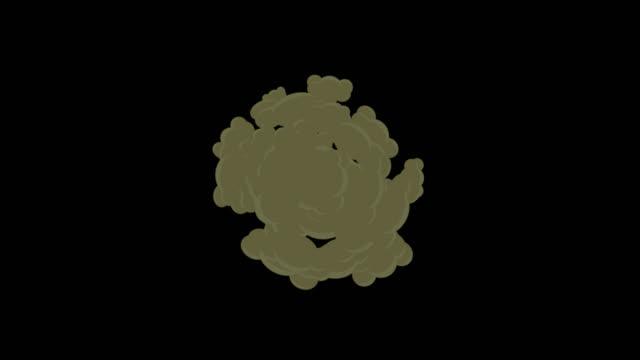 炎のアニメーション - 煙爆発 - 漫画爆発 - オーバーレイアルファチャンネル - 無限ループ - (アップルプロレス444 aplhaチャンネル) - 漫画点の映像素材/bロール