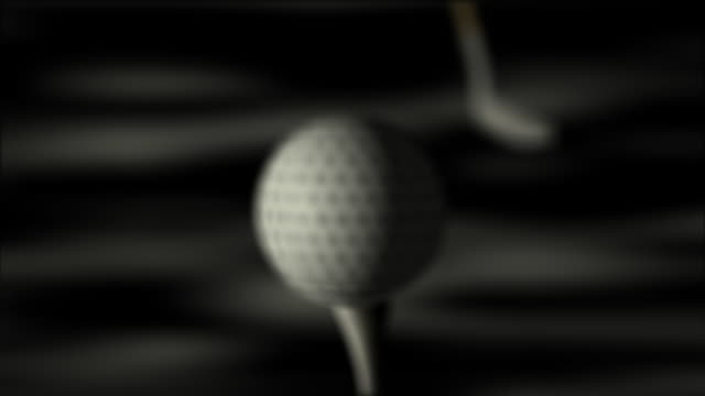 animation of golf hit hd - golf club stock videos & royalty-free footage