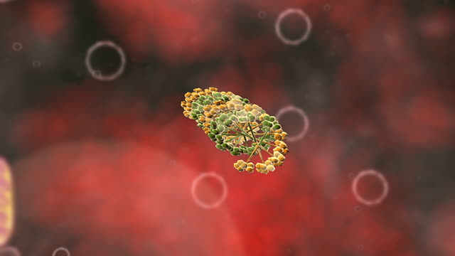 animation of hiv integrase being inhibited by anti retroviral therapy. - retrovirus video stock e b–roll