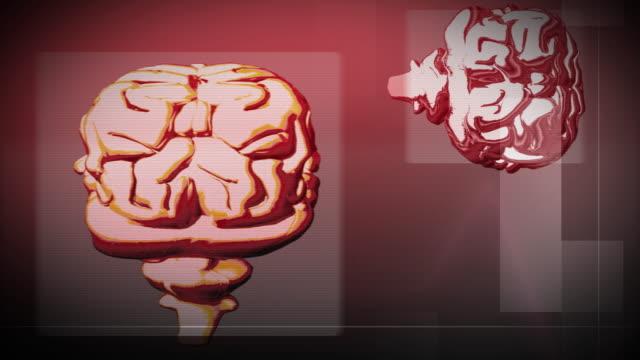 MULTIPLE EXPOSURE CGI Animation of Human Brain