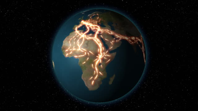 3d animation of immigration and global migrant routes - africa stock videos & royalty-free footage