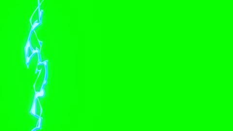 vidéos et rushes de animation des éclairs cartoon vert boîte de superposition alpha channel - boucle infinie - cartoon
