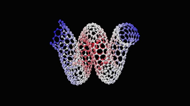 animation of nanohelix - biomedical illustration stock videos & royalty-free footage