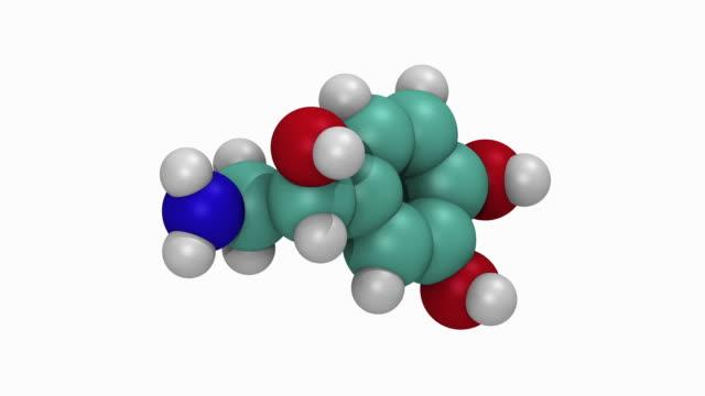 Animation of norepinephrine molecule
