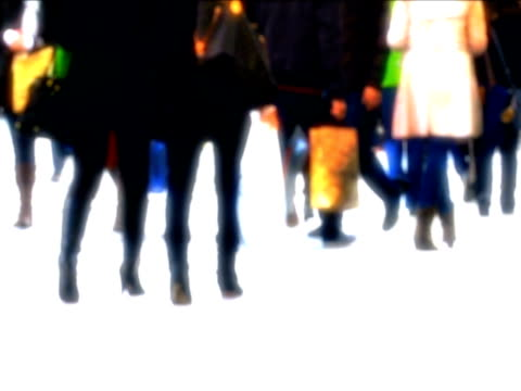 Animation of People in Shopping Street