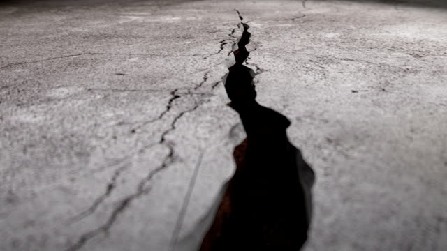 animation of simulating ground cracks. - cracked stock videos & royalty-free footage