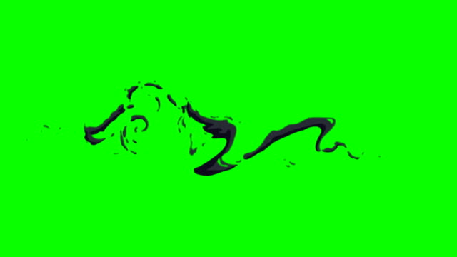 animation of smoke green box alpha channel - infinite loop - drawing activity stock videos & royalty-free footage