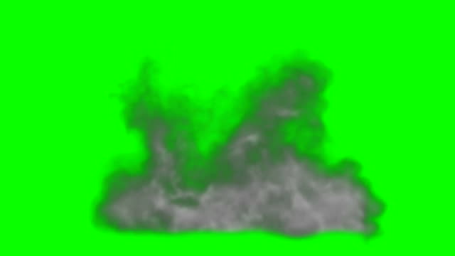 animation of smoke green box alpha channel - infinite loop - smoke physical structure stock videos & royalty-free footage
