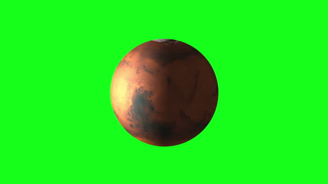4k animation of spinning mars with satellite on green screen bg - mars planet stock videos & royalty-free footage