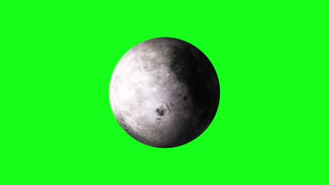 4k animation of spinning moon on green screen bg - moon stock videos & royalty-free footage