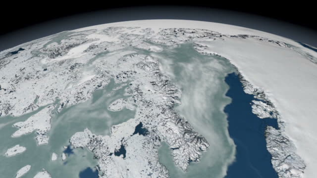 animation of ten years of sea ice data, from the defense meteorological satellite program (dmsp) special sensor microwave imager (ssmi) - north pole stock videos & royalty-free footage