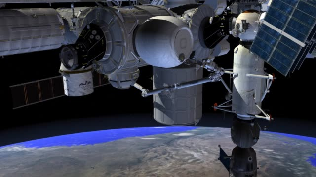 vidéos et rushes de / animation of the bigelow expandable activity module's extraction and installation on the international space station. nasa's bigelow expandable... - exploration de l'espace