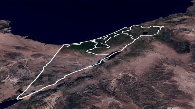 stockvideo's en b-roll-footage met animatie van de regio van het israëlisch-palestijnse conflict - religion