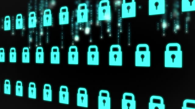 vídeos y material grabado en eventos de stock de animation of various padlocks in row - cerrar con llave