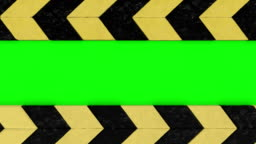 animation of warning hazard grunge pattern